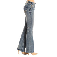 Rock & Roll Cowgirl Women's Mid-Rise Boot Cut Jeans