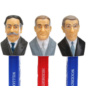 Presidents 1909-1933 PEZ Candy Dispensers: 5-Piece Gift Box
