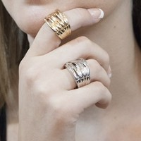 """S.I.N.N """"Stacked"""" Ring in Silver - Accessories - Just In - SinnStyle.com"""