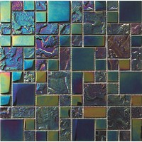 Bahamas Black Mix Iridescent tile