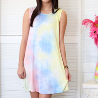 Up All Night Tie Dye Tank Dress {Pink Mix}