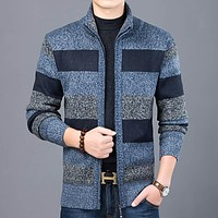 Thick New Fashion Sweater For Mens Cardigan Slim Fit Jumpers Knitwear Warm Autumn Style Casual Clothing Male