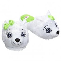 Furry Polar Bear Face Slippers   Slippers   Shoes   Shop Justice
