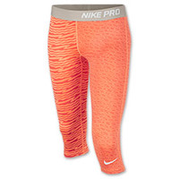 Girls' Nike Pro Fitted Graphic Capris