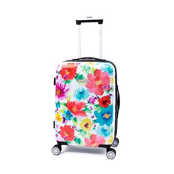 """Floral 20"""" Carry On Suitcase- Hardside Luggage"""