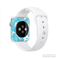 The Hawaiian Floral Pattern V4 Full-Body Skin Set for the Apple Watch