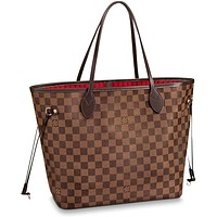Louis Vuitton Neverfull MM Damier Ebene Bags Handbags Purse