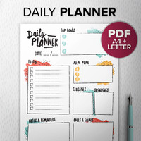 Colorful To Do list PDF Marker, Printable daily planner, Diy todo list, A5 To do A4/Letter, Desk Manager, INSTANT DOWNLOAD
