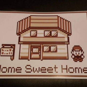 "Pokemon poster ""Home sweet home"" A4"