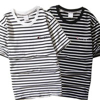 Fashion Striped Stripes Short Sleeve Hip-hop [6541147267]