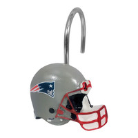 New England Patriots NFL Shower Curtain Rings