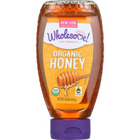 Wholesome Sweeteners Honey - Organic - Amber - Squeeze Bottle - 16 Oz - Case Of 6