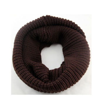 Arionna Wool Knitted Scarf Coffee