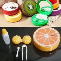 Travel Pocket Soak Storage Contact Lens Case Holder Box Container Fruit Style