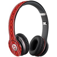 Red and White Tribal Skin  for the Beats Solo HD by skinzy.com