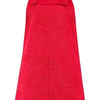 Penny Pocket Front Cord Pinafore Dress | Boohoo