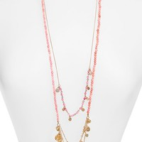 Women's Sequin Long Charm Beaded Necklace