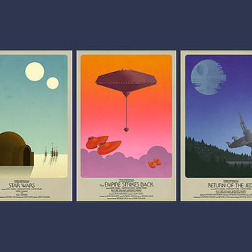 "Star Wars Classic Trilogy Set- 3 Posters (11""x17"")"