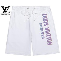 LV Louis Vuitton Summer Hot Sale Women Men Casual Reflective Sports Running Shorts White