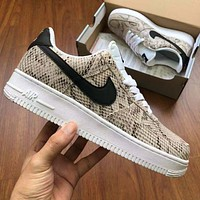 Wearwinds Air Force 1 Nike sportswear snake pattern sneakers women men shoes