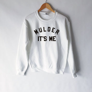 Mulder It's Me Sweatshirt in White for Women