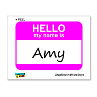 Amy Hello My Name Is Sticker
