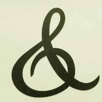 """Ampersand """"And"""" """"&"""" Sign 10 Inch Metal Wall Art Home Decor"""