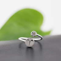 925 Sterling Silver 12 Constellation Ring (Aries)