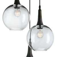 Beckett Trio 3 Globe Glass Pendant- Currey & Co 9969