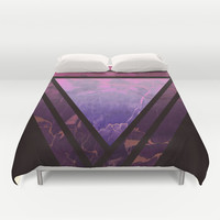 Triangle Time Duvet Cover by Cafelab