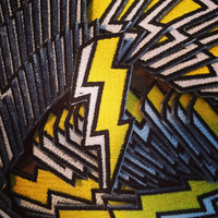 The Bolt Patch // Lightning Iron on patch // Embroidered patch // Applique