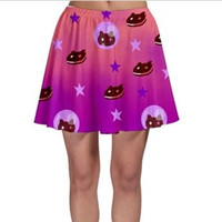 Cookie Cat Steven Universe Skater Skirt