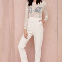 Glamorous Falling in Lace Jumpsuit