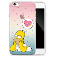 Quad nose Simpson transparent jelly-mold Case for iPhone 6S (Space big star Homer) -IPHONE 6 Case