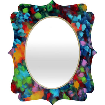 Madart Inc. Color Blast Quatrefoil Mirror