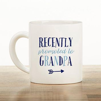 Promoted To Grandpa 16 oz. Mug