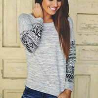 A Native Touch Gray Top