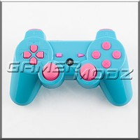 Glossy Light Blue & Pink PS3 Modded Controller