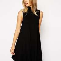 ASOS Sleeveless Swing Dress with Poloneck