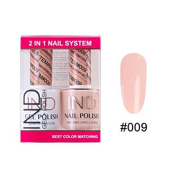 IND Nail Polish Gel & Matching Lacquer Set - #09