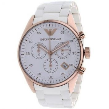 Emporio Armani Women's AR5920 Sportivo White Dial Watch
