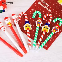 Santa Claus Crutch Ball Pen Kids Party Favors New Year Christmas Party Decorations Supplies Gifts for Children Back to School