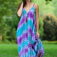 Beyond The Horizon Maxi Dress-Plum