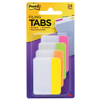Post it Durable Tabs 2 x 1 12 Assorted Colors 6 Flags Per Pad Pack Of 4 Pads by Office Depot & OfficeMax