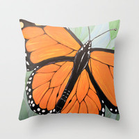 Monarch Throw Pillow by Amy Giacomelli