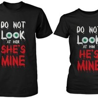 Funny Halloween Couple Shirts - Do Not Look At My Girlfriend, Boyfriend