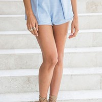 Georgia Shorts Blue Check - Best Sellers - Clothes