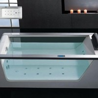 Whirlpool Bathtub With Inline Heater Drainage Device Waterfall Cascade Style Water Inlet Sydney Whir