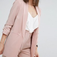 ASOS PETITE Mix & Match Blazer with Rouched Sleeve at asos.com