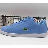 Lacoste 2018 men's and women's fashion brand casual sports shoes F-A36H-MY blue